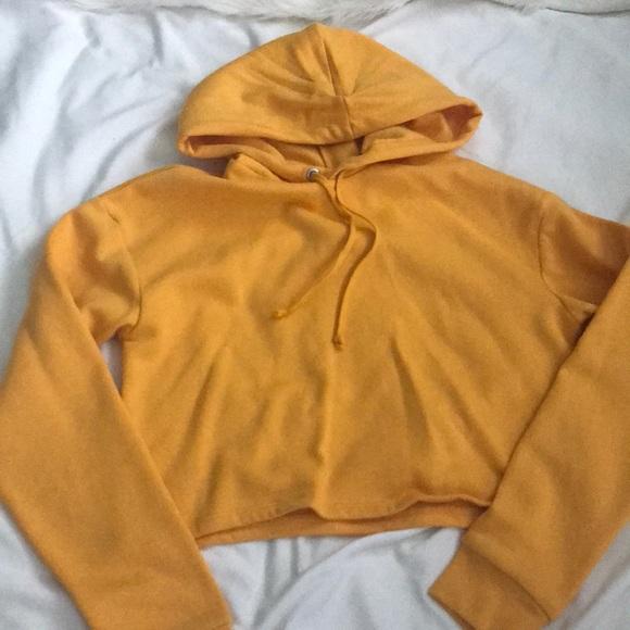 H&M Sweaters - Yellow Cropped Sweatshirt